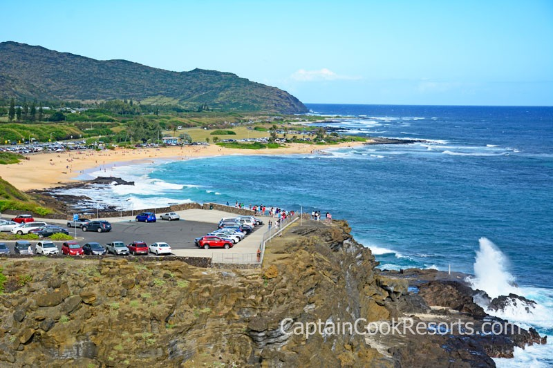 Halona Blowhole and Halona Cove aka Eternity Beach Parking Area