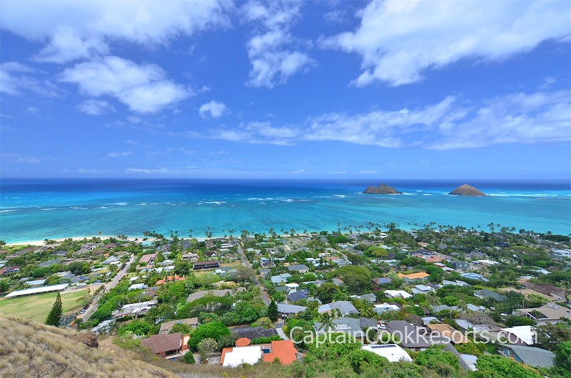 View from Lanikai pillobox hike