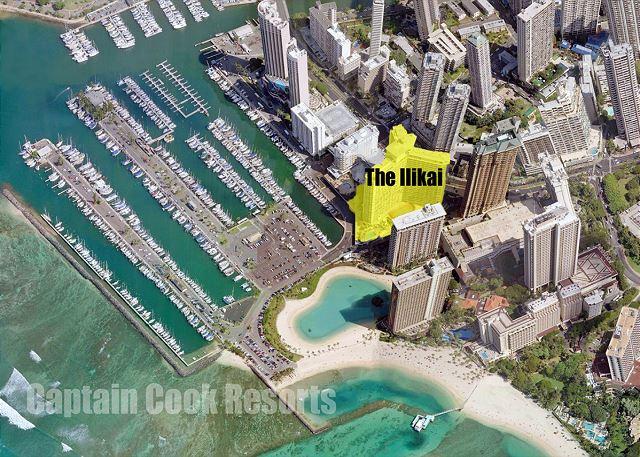 Waikiki Ilikai Hotel and Apartments Location