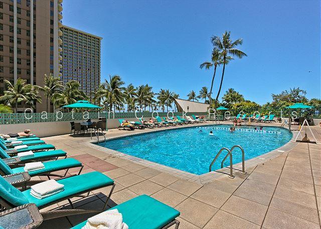 Pool at the Ilikai Hotel & Apartments in Waikiki