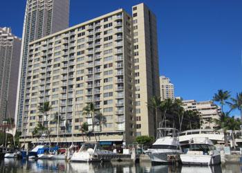 Ilikai Marina building in Waikiki
