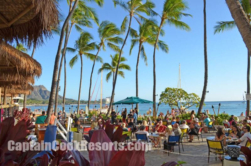 Duke's restaurant on Waikiki Beach