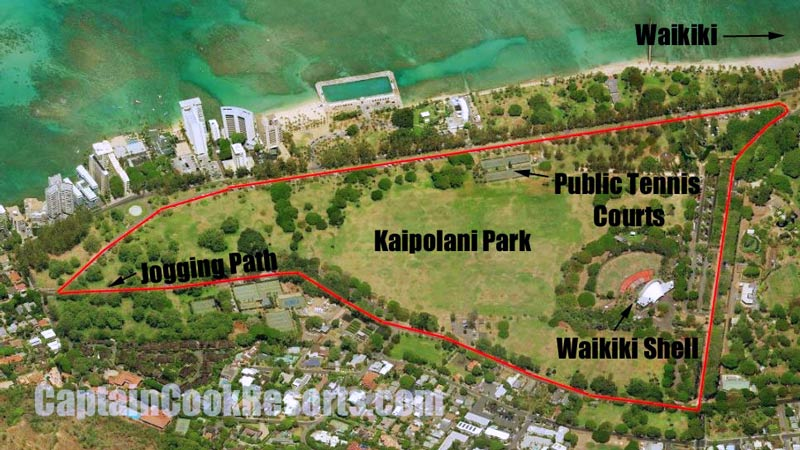 Kapiolani Park Map