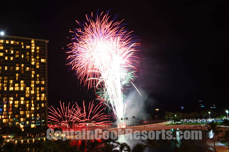 Waikiki Fireworks Friday Night