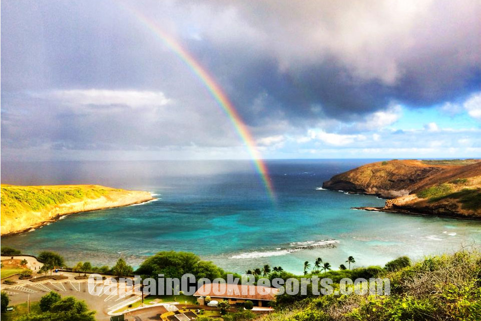 Rainbow over Haunama Bay